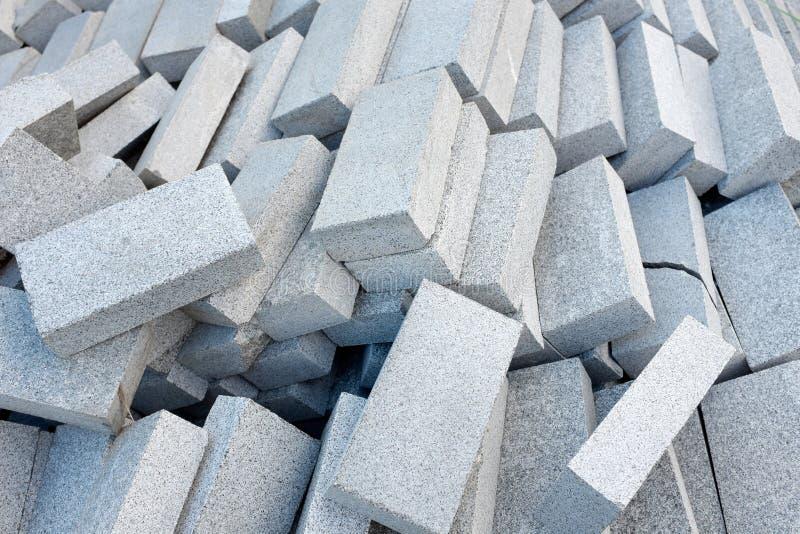 Concrete blokken of bakstenen stock fotografie