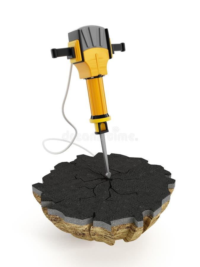 Concrete breker - Jackhammer vector illustratie