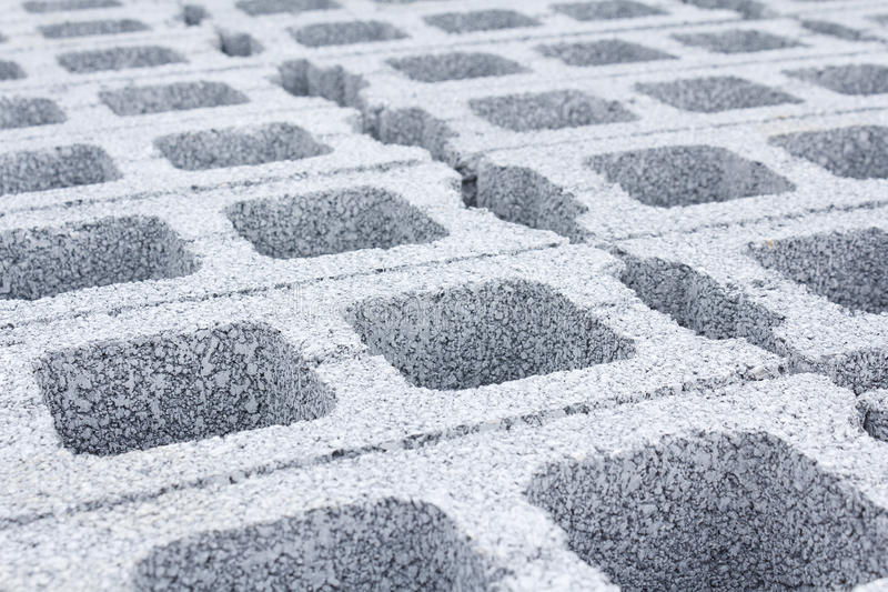 Concrete Bricks. At warehouse in Thailand stock photography