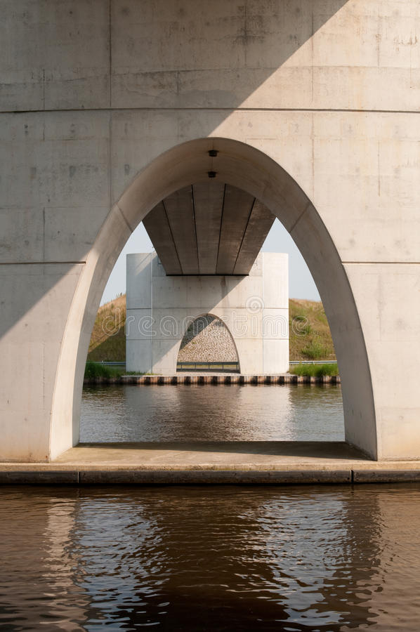Concrete bridge royalty free stock photo