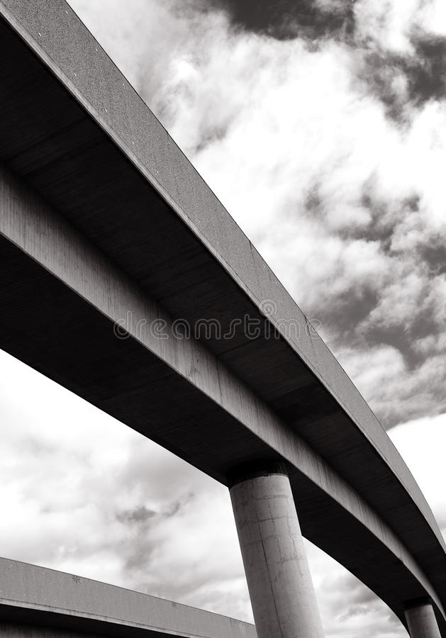 Download Concrete bridge stock image. Image of connection, diminishing - 27177873