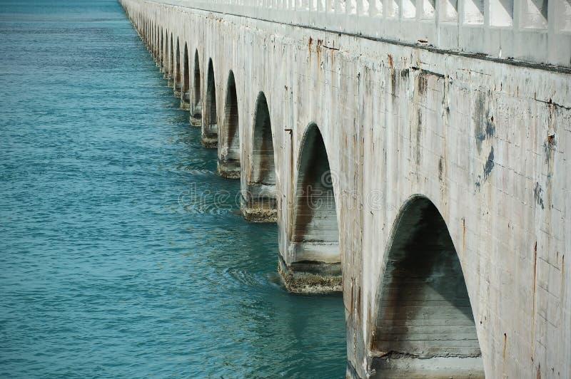 Concrete brug met bogen stock fotografie
