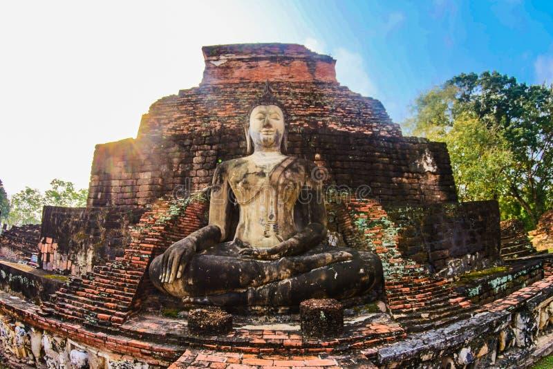 Concrete Buddha Temple stock photo