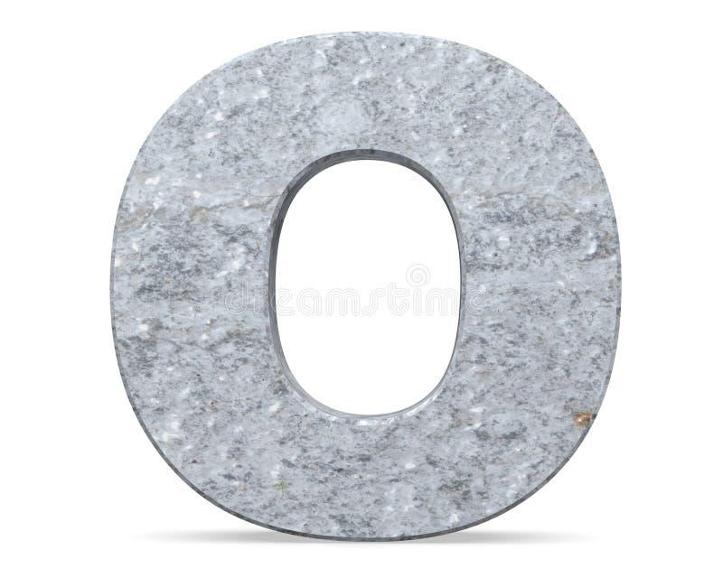 Concrete Capital Letter - O isolated on white background . 3D render Illustration. vector illustration