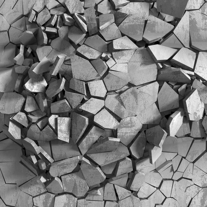 Concrete chaotic explosion demolition abstract background royalty free stock photo