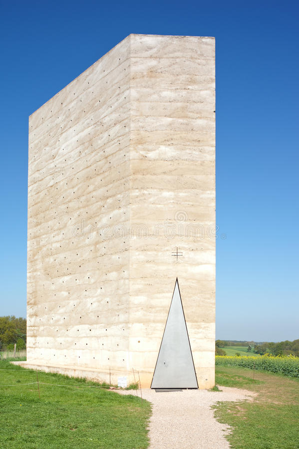 Concrete Chapel in the countryside royalty free stock photo