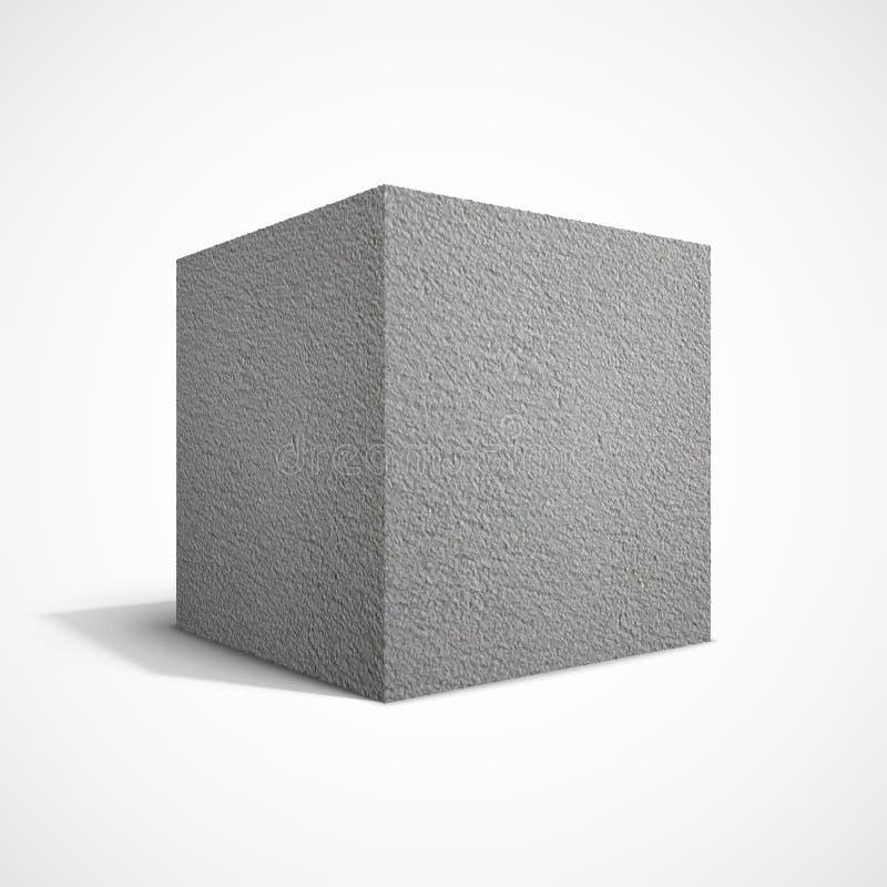 Concrete cube stock illustration