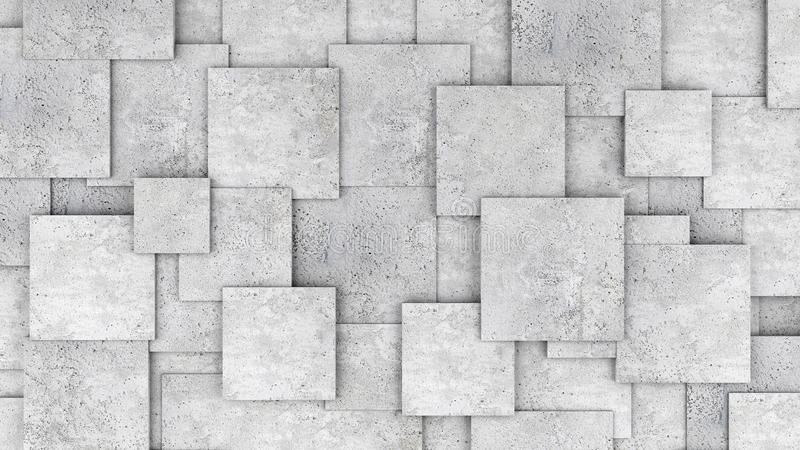 Concrete 3d cube wall as background or wallpaper royalty free stock images