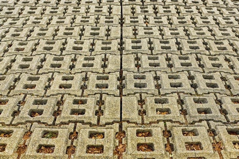 Concrete de boothelling van de blokbetonmolen in kleur stock foto's