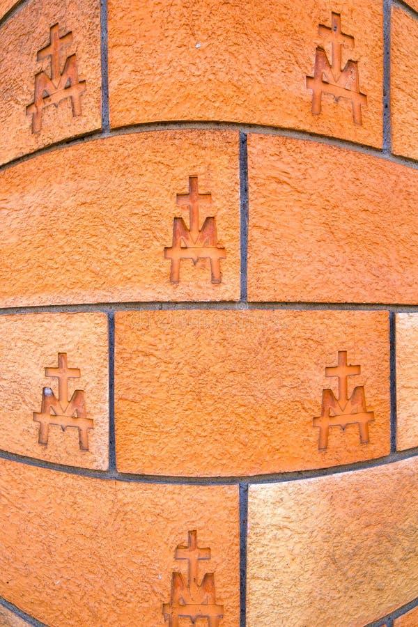 concrete de muurbaksteen van Milaan Italië abstracte backgro stock foto's