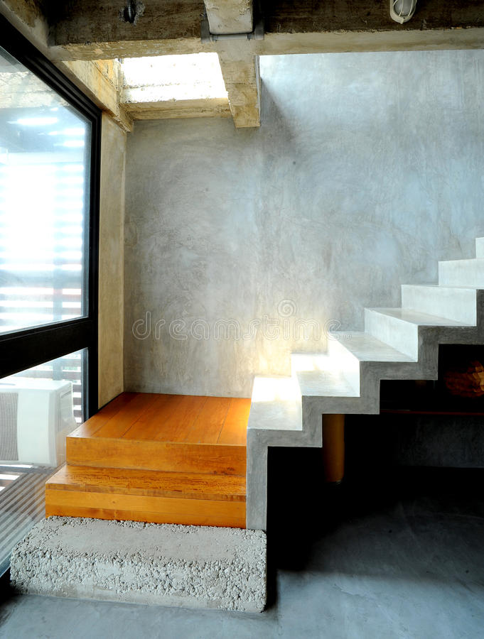 Concrete design in modern style stock images