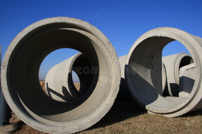Cement Drain Pipe 24 : Concrete drainage pipe royalty free stock photography