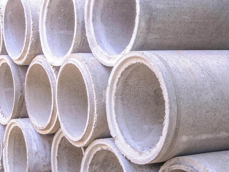 Download Concrete drainage pipes stock image. Image of pipes, housing - 34202171