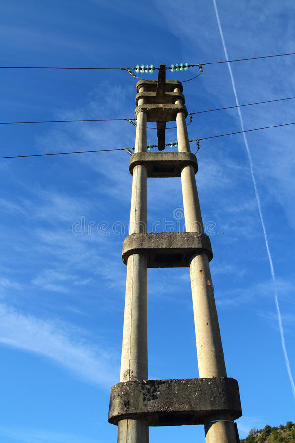 Download Concrete Electric Tower Pole Retro Stock Photo - Image: 20981030