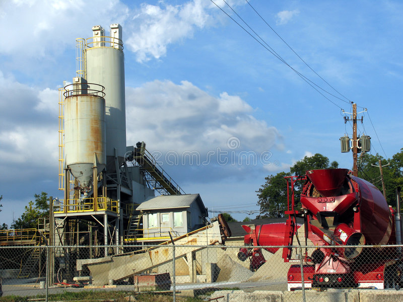 Concrete factory royalty free stock image