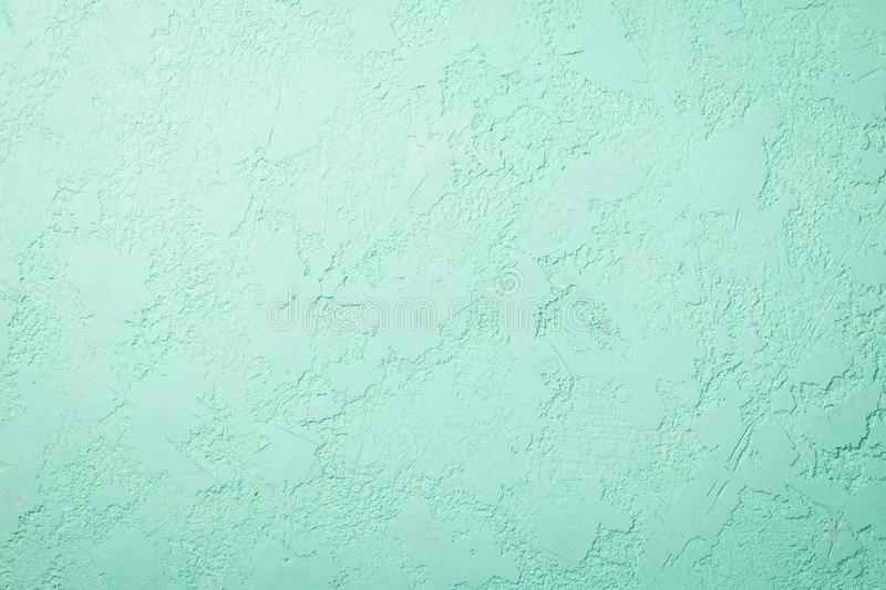 Concrete floor mint color background. Old cement texture royalty free stock photography