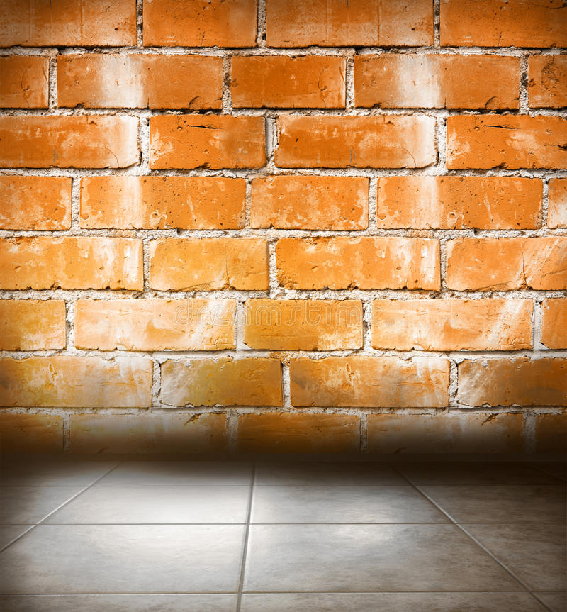 Concrete floor and wall. Copy space stock photo