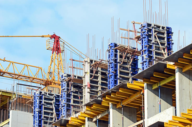 Download Concrete formwork stock image. Image of column, casing - 20288635