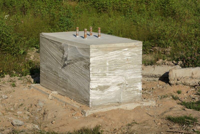 Concrete foundation stock photo image 58498832 for Concrete pillars for foundation