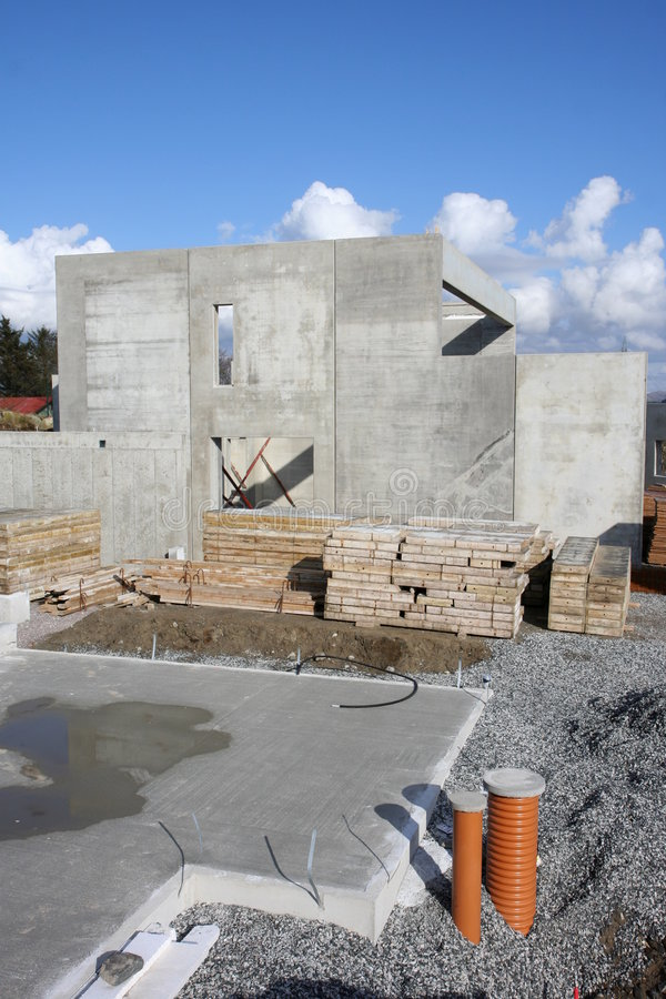 Concrete Foundation For House Royalty Free Stock Images