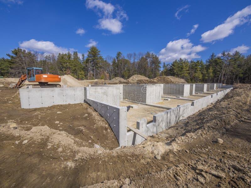 Concrete Foundation Stock Photography