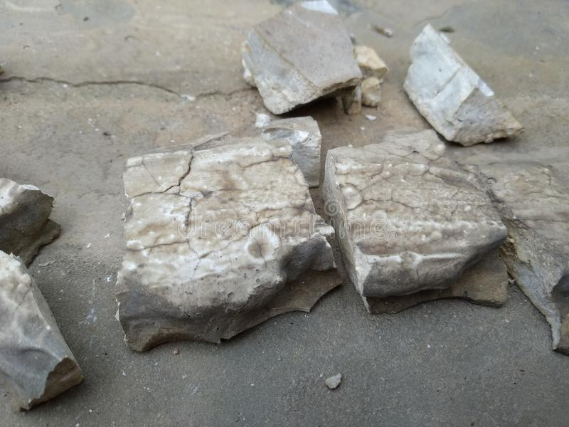 Broken concrete royalty free stock photo