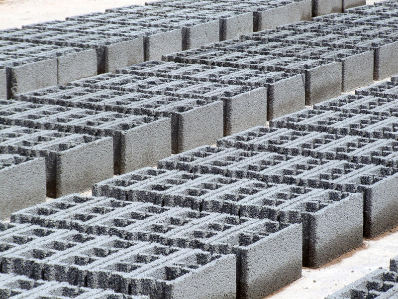 Concrete Grijze blokken - stock foto