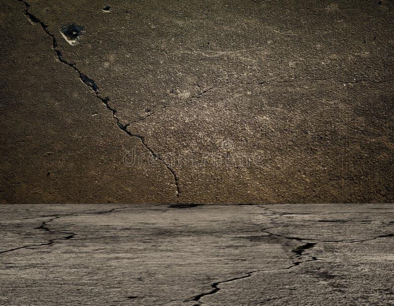 Concrete grijze muur en vloer met schaduwen royalty-vrije stock foto's