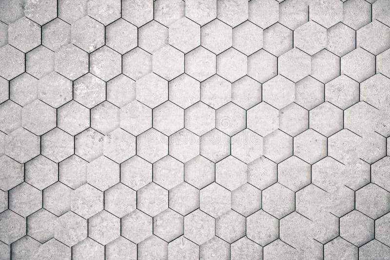 Concrete hexagon achtergrond vector illustratie