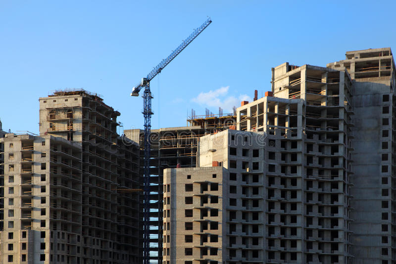Download Concrete Highrise Construction Site Stock Photo - Image: 10503380