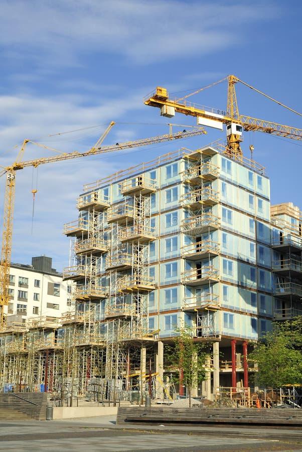 Download Concrete Highrise Construction Site Stock Image - Image: 25136599