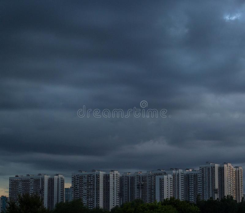 Concrete Jungle of Moscow City. royalty free stock photos