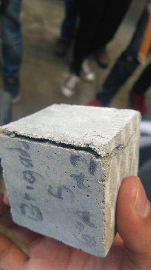 Concrete kubus De concrete test van ASTM royalty-vrije stock fotografie