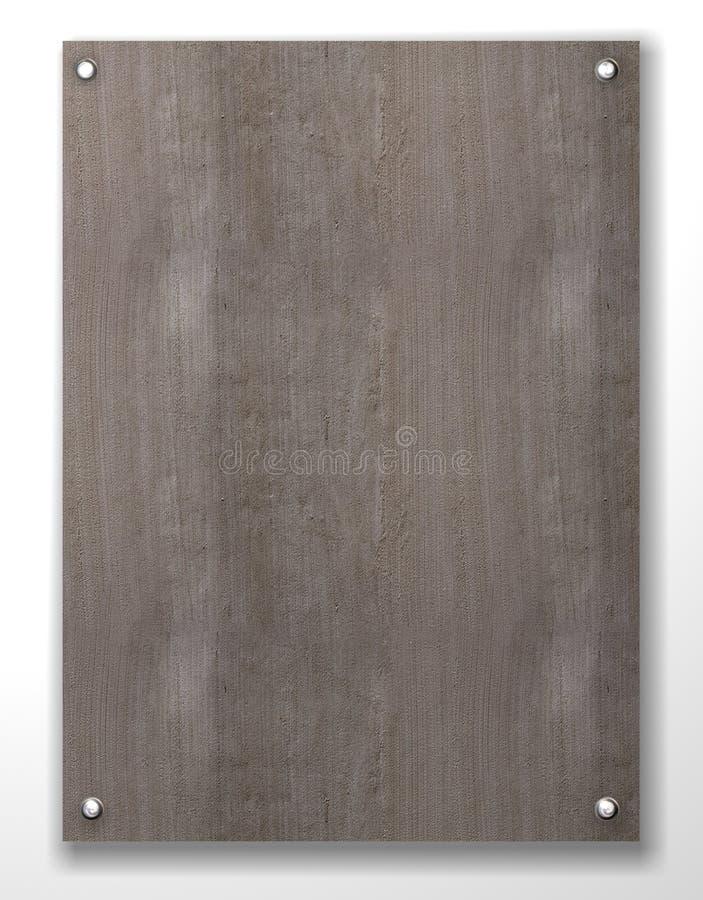 Concrete lege tablet - cement stock illustratie