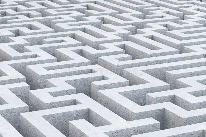Concrete maze. stock illustration