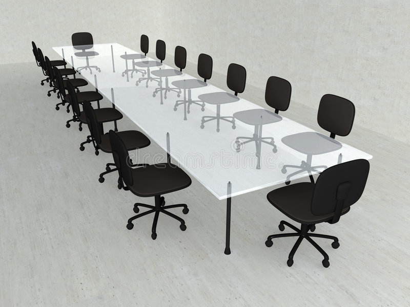 Concrete Meeting room royalty free illustration
