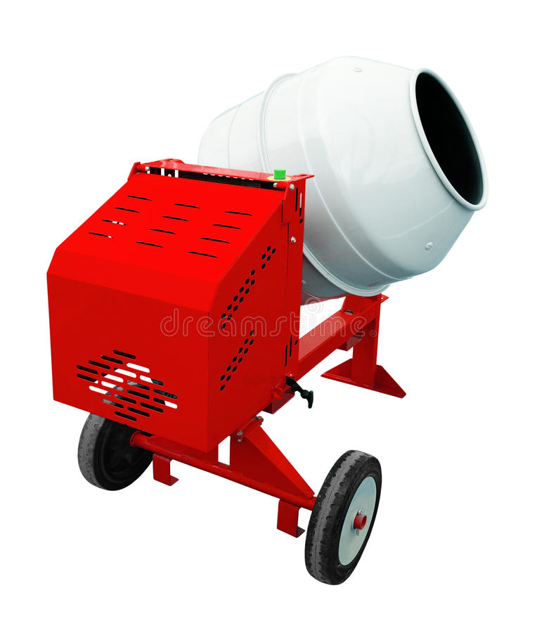 Concrete mixer. Isolated over a white background royalty free stock photography