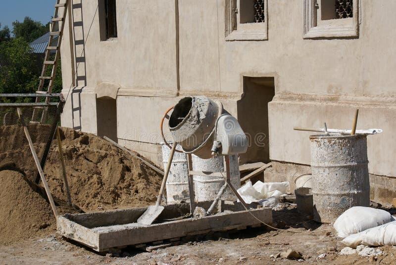 Concrete mixer stock photos