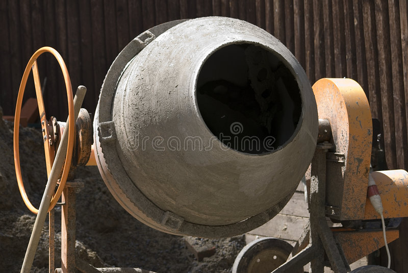 Concrete mixer. To take a close-up of concrete mixer royalty free stock image