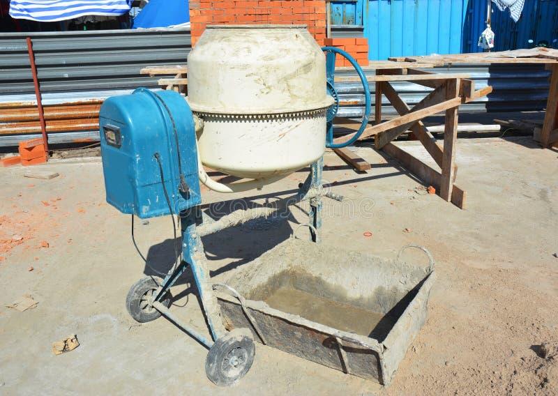 Concrete Mixer. Cement Mixer for Construction Job. Close up on Concrete Mixer. Cement Mixer for Construction Job royalty free stock photo