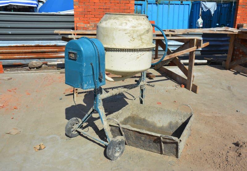 Concrete Mixer. Cement Mixer for Construction Job. Concrete Mixer. Cement Mixer for House Construction Job royalty free stock photo