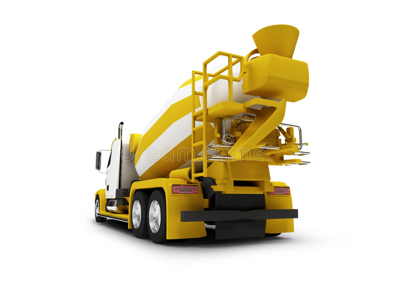 Download Concrete Mixer Isolated With Clipping Path Stock Illustration - Image: 3751933