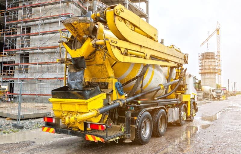 Concrete mixer truck. royalty free stock photo