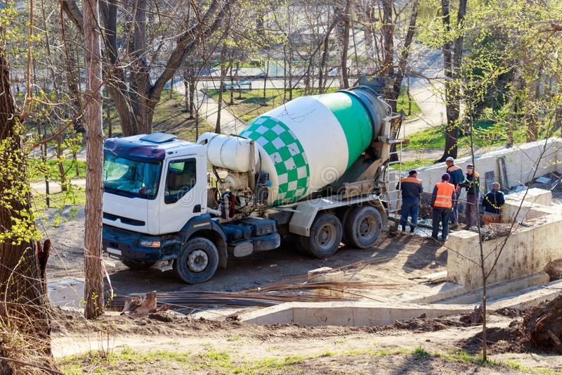 Concrete Mixerauto stock foto's
