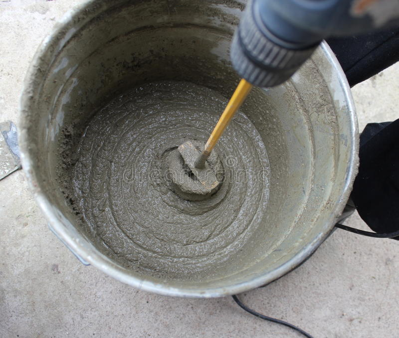 Concrete mixing stock photography