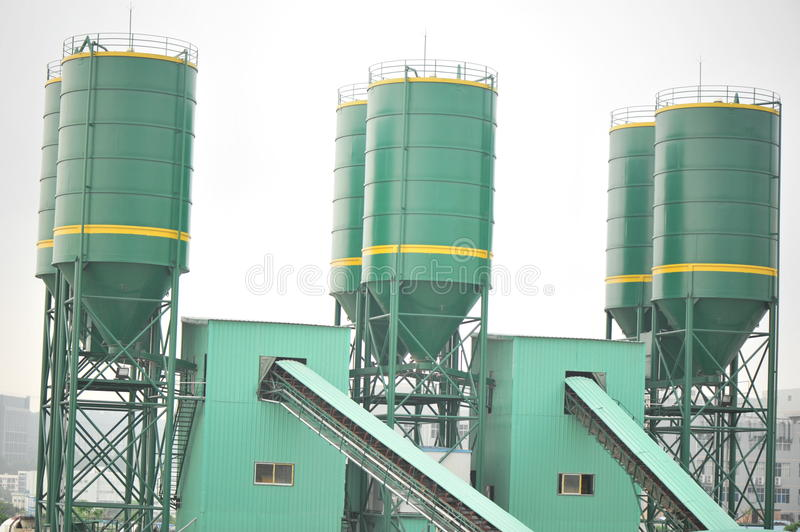 Concrete mixing plants royalty free stock photo