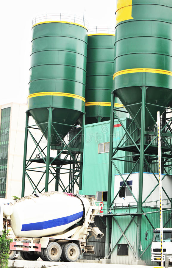 Download Concrete mixing plants stock photo. Image of delivery - 24722240