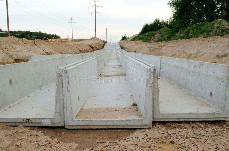 Download Concrete Moats. Electrical And Communications Lay Stock Photography - Image: 25766232