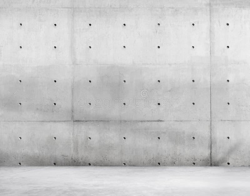 Concrete Muur en Cementvloer voor Exemplaarruimte stock foto's