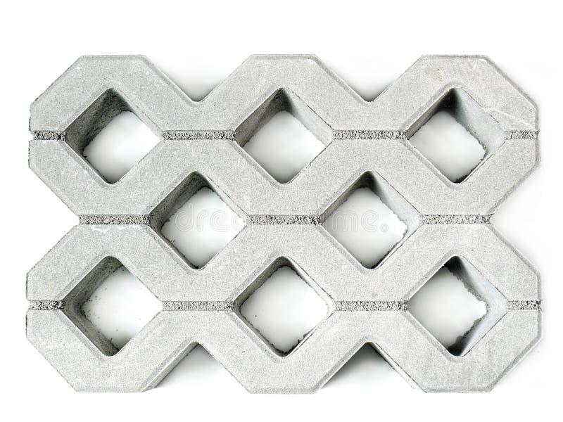Concrete pavement block royalty free stock photography